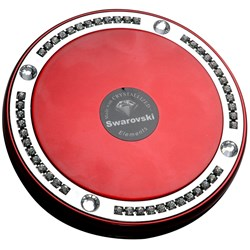 Taylor Madison Large Deluxe Round Compact Mirror - Red