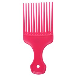 Salon Smart Afro Hair Comb, Pink
