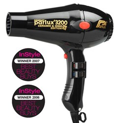 Parlux 3200 Ionic Ceramic Compact Hair Dryer Black