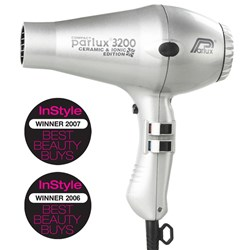 Parlux 3200 Ionic Ceramic Compact Hair Dryer Silver