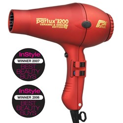 Parlux 3200 Ionic Ceramic Compact Hair Dryer Red