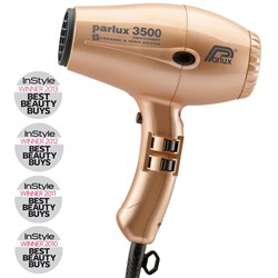 Parlux 3500 SuperCompact Ceramic Ionic Hair Dryer Gold
