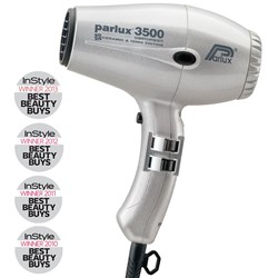 Parlux 3500 SuperCompact Ceramic Ionic Hair Dryer Silver