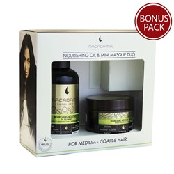 Macadamia Professional Nourishing Hair Oil and Mini Masque Duo