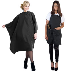 hairdressing capes and aprons