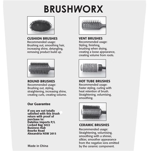 Brushworx Keratin Silk Ceramic Porcupine Hot Tube Hair Brush - Medium