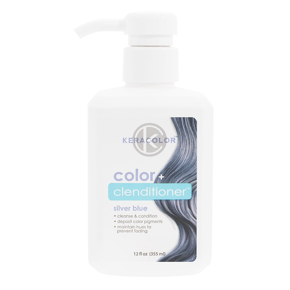 Keracolor Color Clenditioner Colouring Shampoo Silver Blue